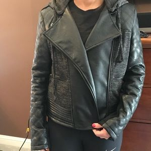 Bebe Faux Leather/Sweatshirt jacket!